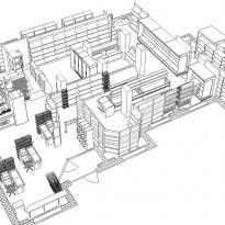 3D схема расстановки оборудования вид1