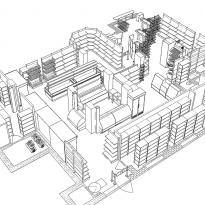 3D схема расстановки оборудования вид3