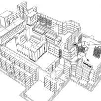 3D схема расстановки оборудования вид4