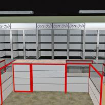 3D визуализация оборудования в павильоне