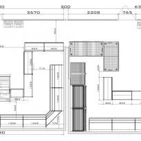 План схема торгового павильона с расположением торгового оборудования